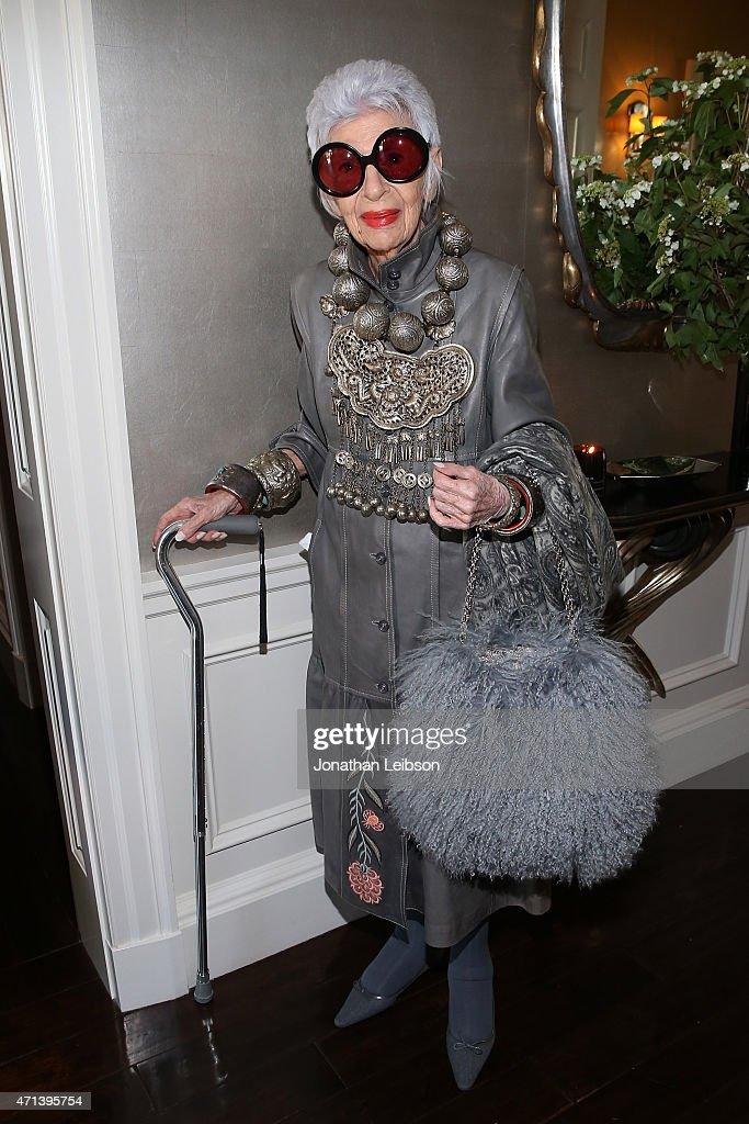 VIOLET GREY Honors Iris Apfel At A She's So Violet Garden Tea