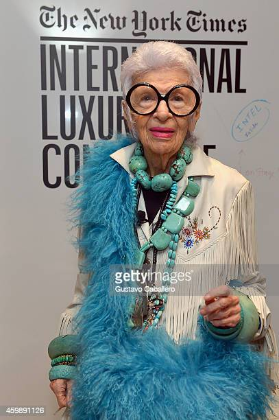 Iris Apfel Design Entrepreneur attends the The New York Times International Luxury Conference at Mandarin Oriental on December 3 2014 in Miami Florida