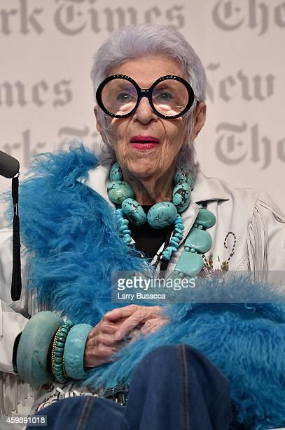 Iris Apfel Design Entrepreneur speaks onstage at the The New York Times International Luxury Conference at Mandarin Oriental on December 3 2014 in...