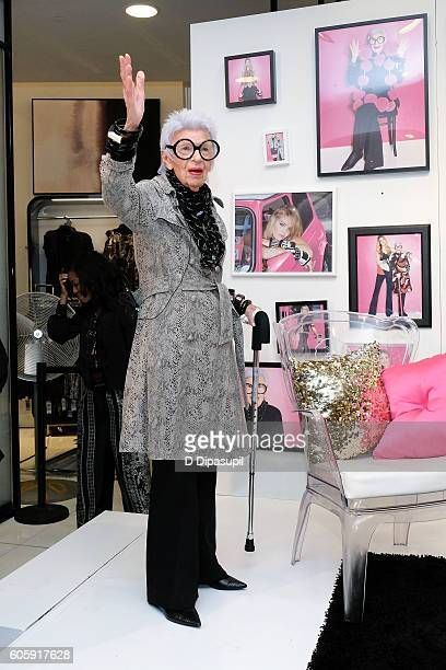 Iris Apfel discusses the 'Iris Meets INC' fall fashion collection at Macy's Herald Square on September 15 2016 in New York City