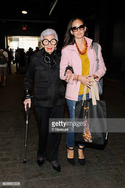 Iris Apfel is seen during New York Fashion Week The Shows at Skylight at Moynihan Station on September 14 2016 in New York City