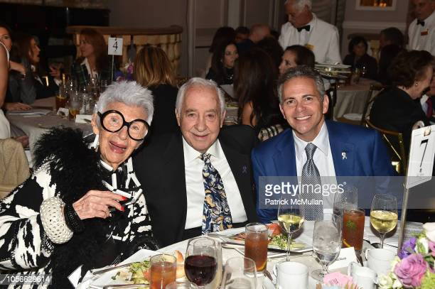 Iris Apfel Neil Weinreb and David Weinreb attend Alzheimer's Drug Discovery Foundation's Ninth Annual Fall Symposium Luncheon at the Pierre Hotel on...