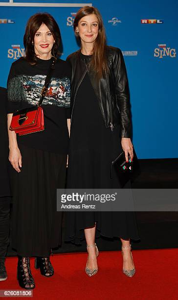 Iris Berben and Alexandra Maria Lara attend the European premiere of 'Sing' at Cinedom on November 27 2016 in Cologne Germany