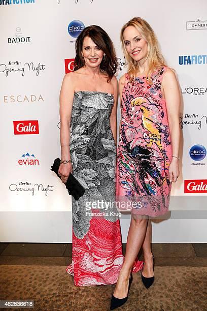 Iris Berben and Anne Meyer-Minnemann attend the 'Berlin Opening Night Of Gala & Ufa Fiction on February 05, 2015 in Berlin, Germany.