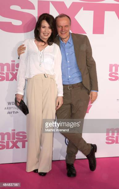 Iris Berben and Edgar Selge attend the premiere of the film 'Miss Sixty' on April 14 2014 in Cologne Germany
