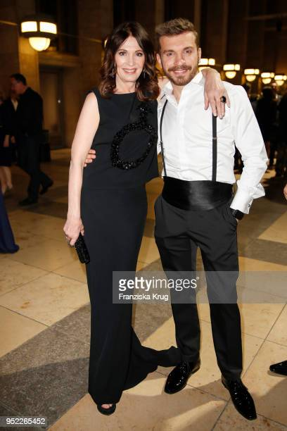 Iris Berben and Edin Hasanovic during the Lola German Film Award Party at Palais am Funkturm on April 27 2018 in Berlin Germany