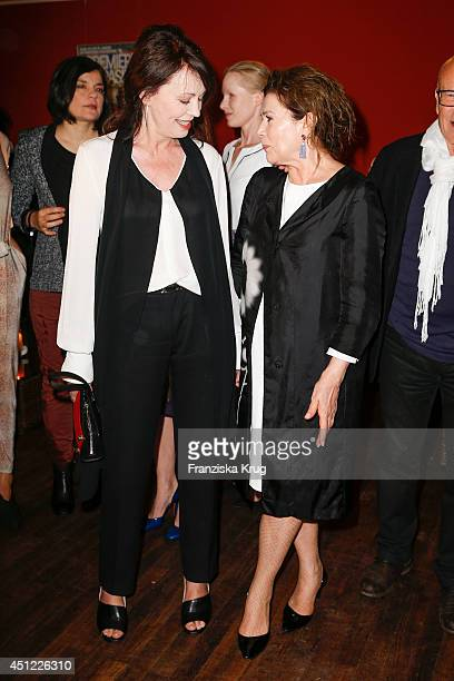 Iris Berben and Hannelore Elsner attend the producer party 2014 of the Alliance German Producer Cinema And Television on June 25 2014 in Berlin...