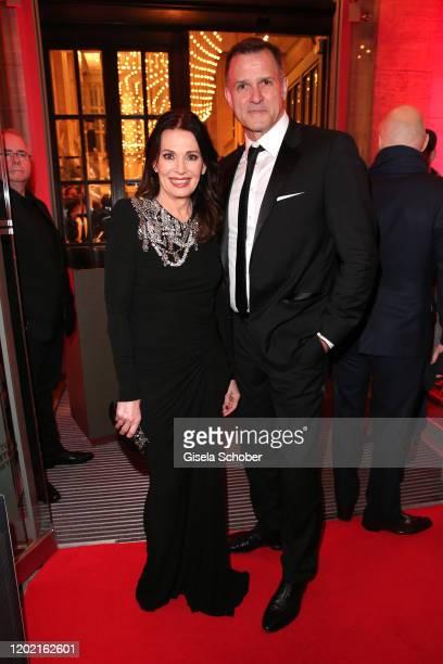 "Iris Berben and Heiko Kiesow attend the Berlin Opening Night by Bertelsmann Content Alliance at hotel ""Das Stue"" on February 20, 2020 in Berlin,..."