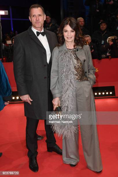 Iris Berben and Heiko Kiesow attend the closing ceremony during the 68th Berlinale International Film Festival Berlin at Berlinale Palast on February...