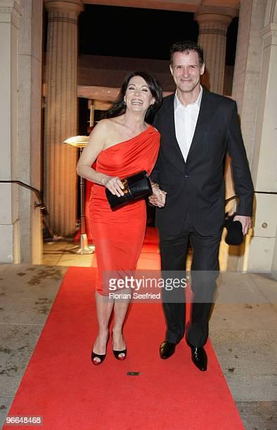 Iris Berben and Heiko Kiesow attend the 'Festival Night' during the 60th Berlin International Film Festival at the Palais am Festungsgraben on...
