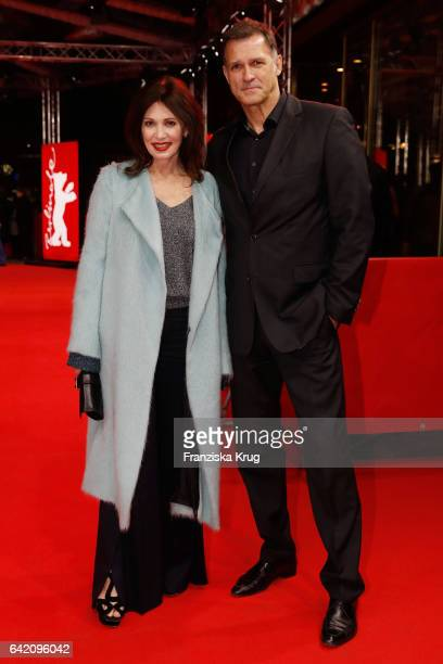 Iris Berben and Heiko Kiesow attend the 'In Times of Fading Light' premiere during the 67th Berlinale International Film Festival Berlin at Zoo...