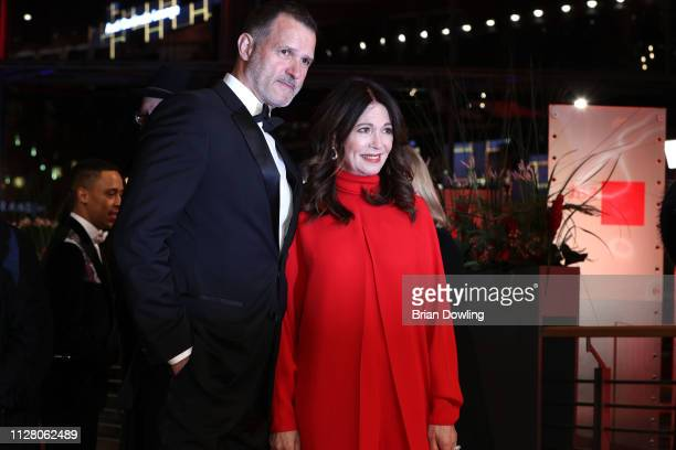 """Iris Berben and Heiko Kiesow attend the """"The Kindness Of Strangers"""" premiere during the 69th Berlinale International Film Festival Berlin at..."""