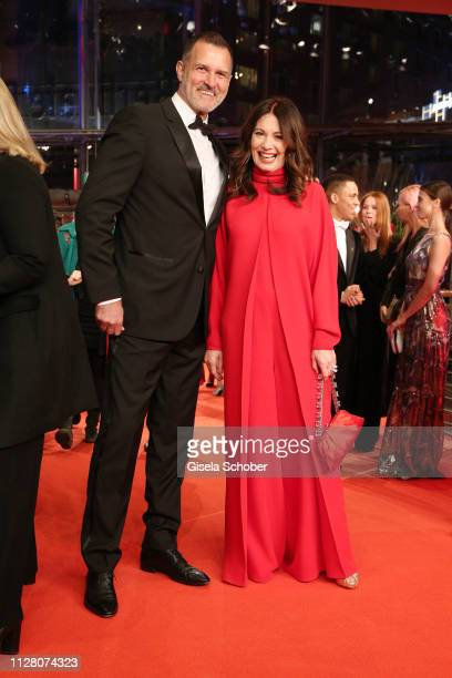 Iris Berben and Heiko Kiesow attend the The Kindness Of Strangers premiere during the 69th Berlinale International Film Festival Berlin at Berlinale...