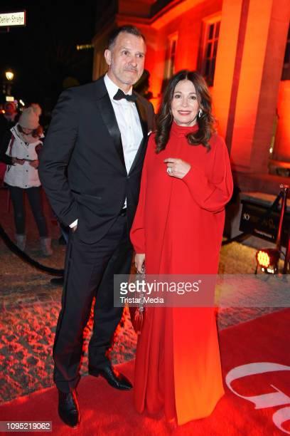 Iris Berben and her boyfriend Heiko Kiesow attend the Berlin Opening Night by GALA UFA Fiction during 69th Berlinale International Film Festival at...