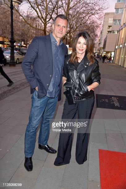 Iris Berben and her boyfriend Heiko Kiesow attend the 'Peter Lindbergh Women Stories' world premiere after show party during the 69th Berlinale...