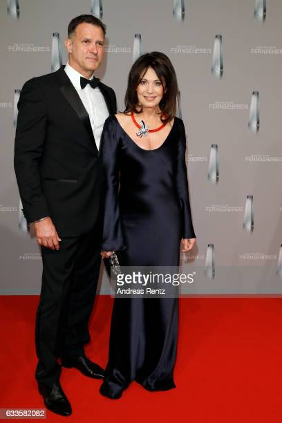 Iris Berben and her partner Heiko Kiesow attend the German Television Award at Rheinterrasse on February 2 2017 in Duesseldorf Germany
