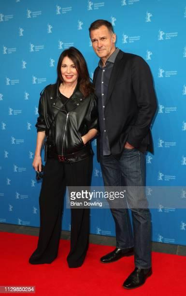 "Iris Berben and her partner Heiko Kiesow attend the ""Peter Lindbergh - Women Stories"" premiere during the 69th Berlinale International Film Festival..."