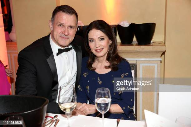 Iris Berben and her partner Heiko Kiesow during the 47th German Film Ball party at Hotel Bayerischer Hof on January 18 2020 in Munich Germany