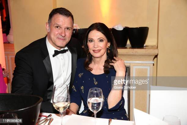 Iris Berben and her partner Heiko Kiesow during the 47th German Film Ball party at Hotel Bayerischer Hof on January 18, 2020 in Munich, Germany.