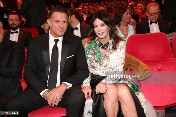 Iris Berben and her partnerr Heiko Kiesow during the Bambi Awards 2017 at Stage Theater on November 16 2017 in Berlin Germany