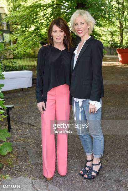 Iris Berben and Katja Eichinger attend 'Mix It Ein filmpraktisches Projekt mit einheimischen und gefluechteten Jugendlichen' Premiere on July 3 2017...