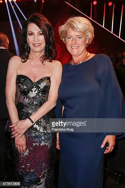 Iris Berben and Monika Gruetters attend the German Film Award 2015 Lola show at Messe Berlin on June 19 2015 in Berlin Germany