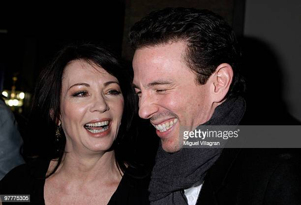 Iris Berben and Oliver Berben attend the German premiere of 'Kennedy's Hirn' on March 16 2010 in Munich Germany