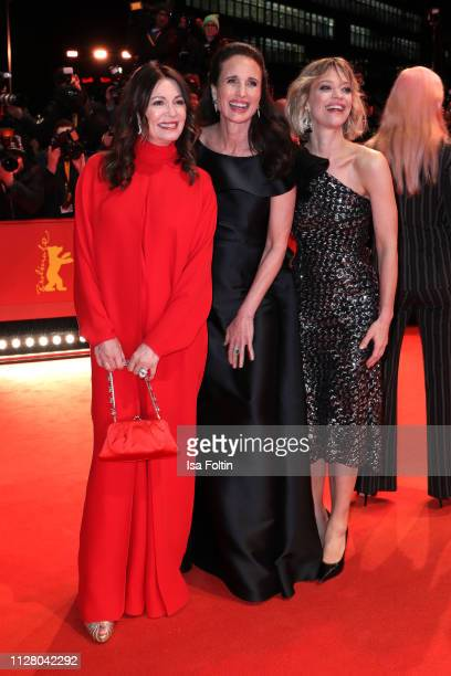 Iris Berben Andie MacDowell and Heike Makatsch attend the The Kindness Of Strangers premiere during the 69th Berlinale International Film Festival...