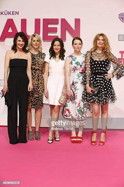 Iris Berben Anika Decker Hannah Herzsprung Karoline Herfurth and Palina Rojinski attend the Traumfrauen premiere at CineStar on February 17 2015 in...