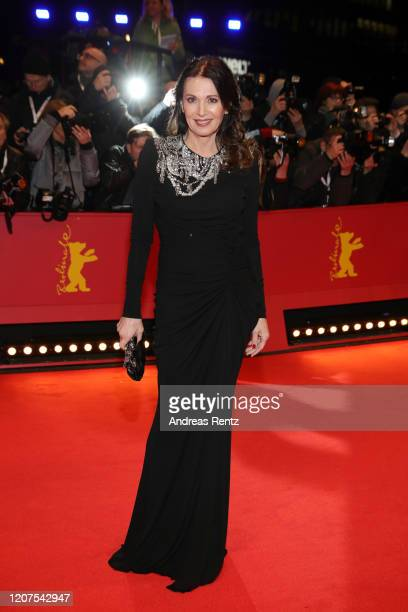 Iris Berben arrives for the opening ceremony and My Salinger Year premiere during the 70th Berlinale International Film Festival Berlin at Berlinale...