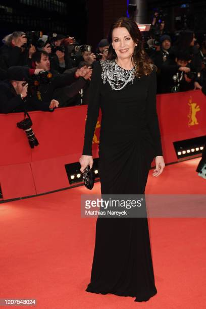 """Iris Berben arrives for the opening ceremony and """"My Salinger Year"""" premiere during the 70th Berlinale International Film Festival Berlin at..."""