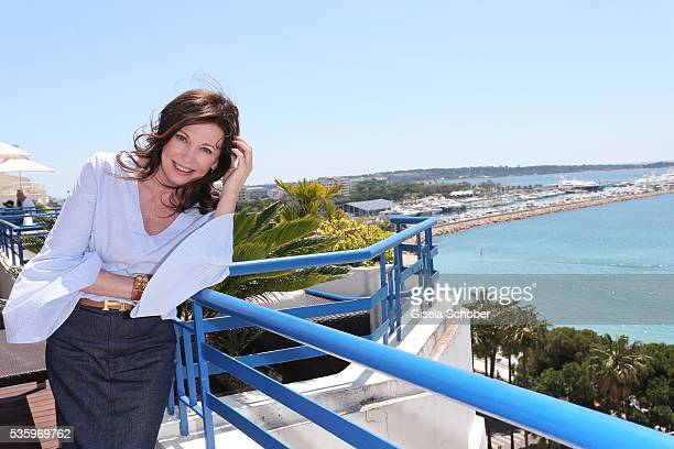 Iris Berben at the L'Oreal Lounge during the Festival du Film in Cannes 2016 on May 15 2016 in Cannes France