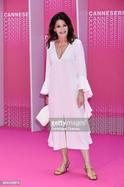 Iris Berben attends 'Killing Eve' and 'When Heroes Fly' screening during the 1st Cannes International Series Festival at Palais des Festivals on...
