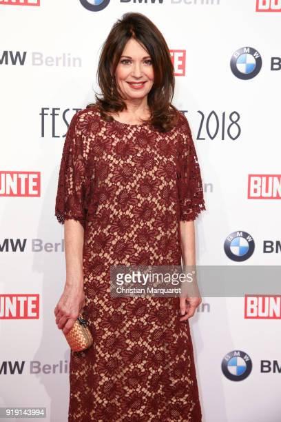 Iris Berben attends the BUNTE BMW Festival Night on the occasion of the 68th Berlinale International Film Festival Berlin at Restaurant Gendarmerie...