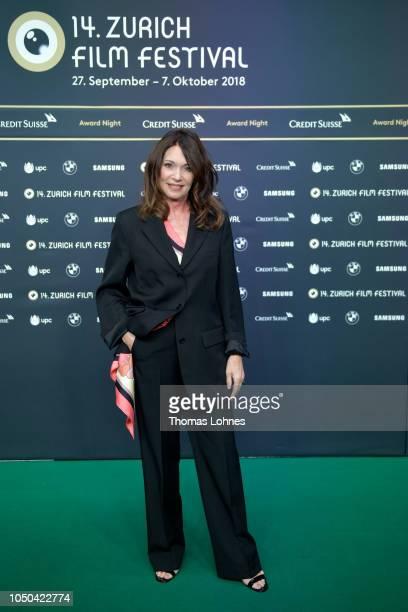 Iris Berben attends the 'Der Vorname' premiere and Award Night during the 14th Zurich Film Festival at on October 06, 2018 in Zurich, Switzerland.