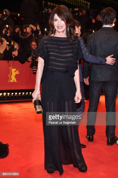 Iris Berben attends the 'Django' premiere during the 67th Berlinale International Film Festival Berlin at Berlinale Palace on February 9 2017 in...
