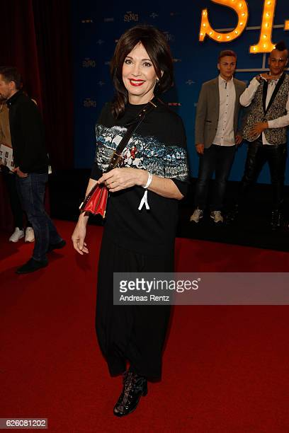 Iris Berben attends the European premiere of 'Sing' at Cinedom on November 27 2016 in Cologne Germany