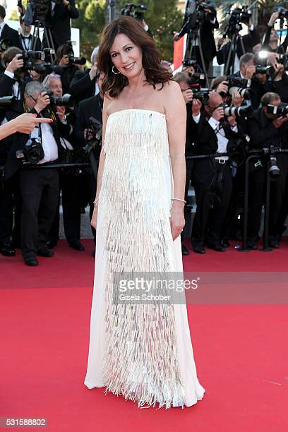 Iris Berben attends the From The Land Of The Moon premiere during the 69th annual Cannes Film Festival at the Palais des Festivals on May 15 2016 in...