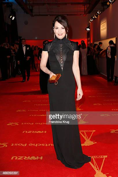 Iris Berben attends the Goldene Kamera 2014 at Tempelhof Airport on February 01 2014 in Berlin Germany