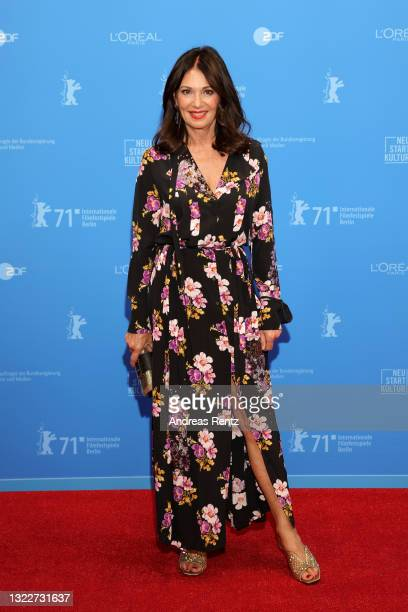 """Iris Berben attends the Opening Ceremony and """"The Mauritanian"""" premiere during the 71st Berlinale International Film Festival Summer Special at..."""
