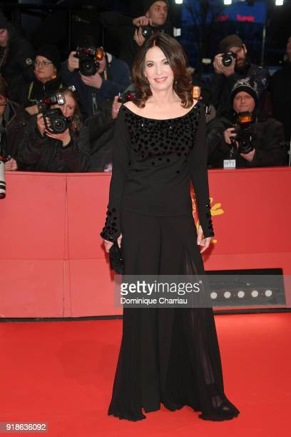 Iris Berben attends the Opening Ceremony 'Isle of Dogs' premiere during the 68th Berlinale International Film Festival Berlin at Berlinale Palace on...