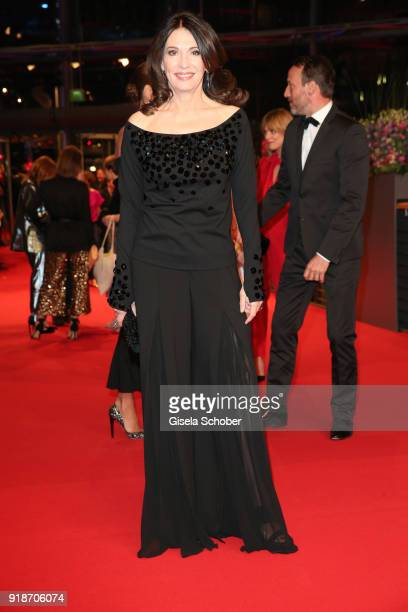 Iris Berben attends the Opening Ceremony & 'Isle of Dogs' premiere during the 68th Berlinale International Film Festival Berlin at Berlinale Palace...