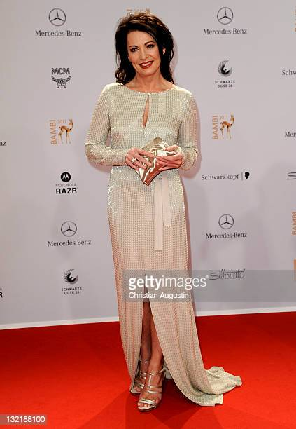 Iris Berben attends the Red Carpet for the Bambi Award 2011 ceremony at the RheinMainHallen on November 10 2011 in Wiesbaden Germany