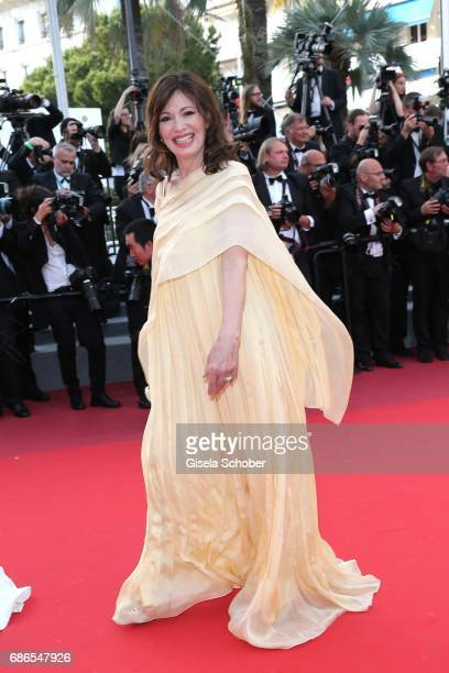 Iris Berben attends the The Meyerowitz Stories screening during the 70th annual Cannes Film Festival at Palais des Festivals on May 21 2017 in Cannes...