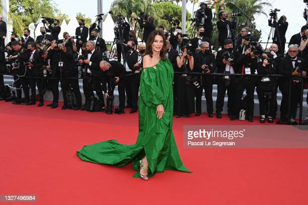 """Iris Berben attends the """"Tout S'est Bien Passe """" screening during the 74th annual Cannes Film Festival on July 07, 2021 in Cannes, France."""