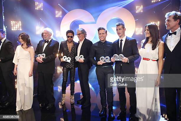 Iris Berben Donald Sutherland Lenny Kravitz Paul Smith Olly Murs Miroslav Klose Bettina Zimmermann and Thomas Heinze are seen on stage at the GQ Men...