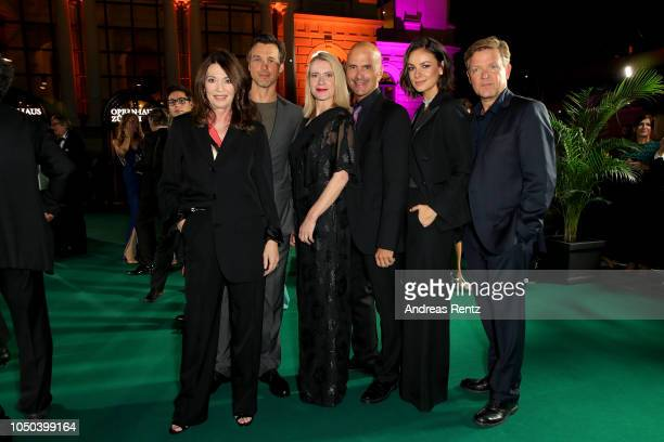 Iris Berben Florian David Fitz Caroline Peters Christoph Maria Herbst Janina Uhse and Justus von Dohnanyi attend the 'Der Vorname' premiere and Award...