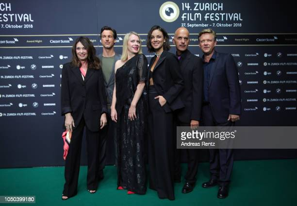Iris Berben Florian David Fitz Caroline Peters Janina Uhse Christoph Maria Herbst and Justus von Dohnanyi attend the 'Der Vorname' premiere and Award...