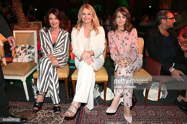 Iris Berben Frauke Ludowig and Alice Dwyer during the Marc Cain fashion show spring/summer 2017 at CITY CUBE Panorama Bar on June 28 2016 in Berlin...