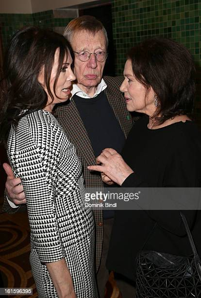 Iris Berben Hark Bohm and Hannelore Elsner attend the Alles KinoDe Lounge during the 63rd Berlinale International Film Festival at the Pauly Saal on...